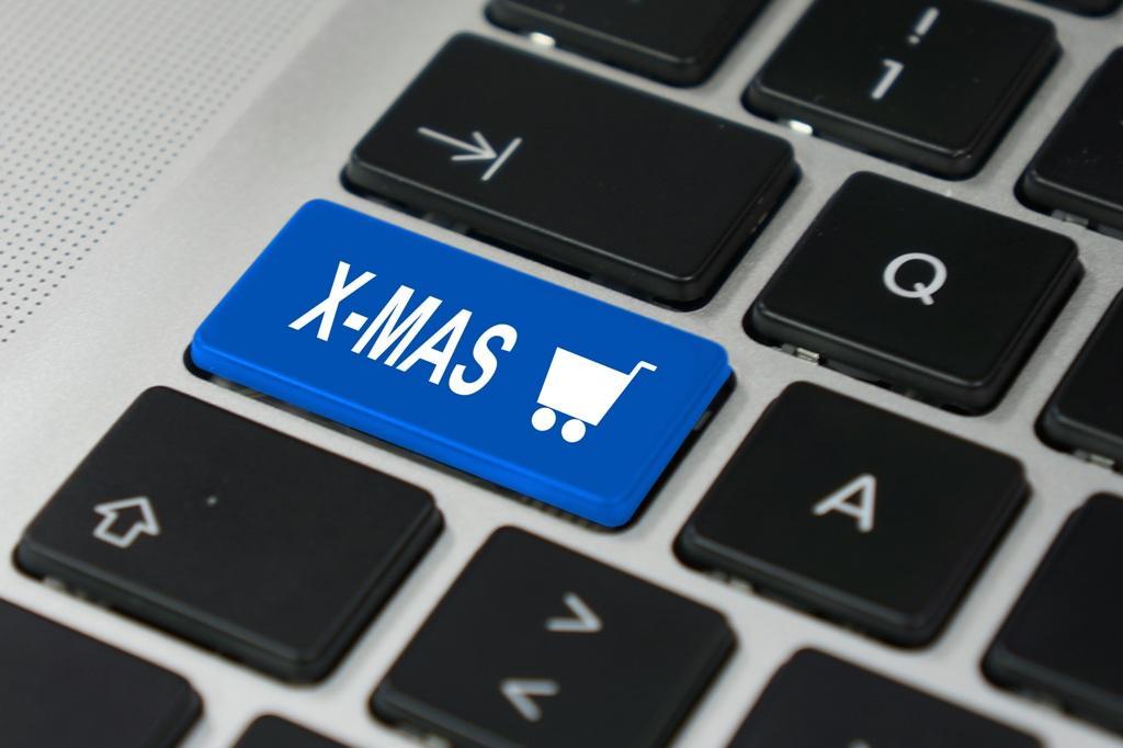 X-mas Shopping blau