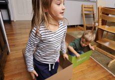 Wettrennen mit einer Kiste