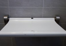 Wickeltisch auf Toilette