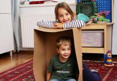 Wir bauen uns ein Haus aus Karton