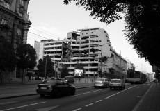 Zerstörtes Gebäude Belgrad