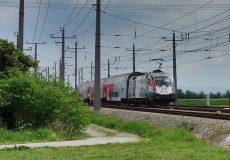 Achtung Zug fährt vorbei
