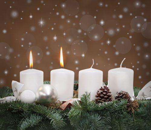 Zweiter 2 Advent Kerze Bilder